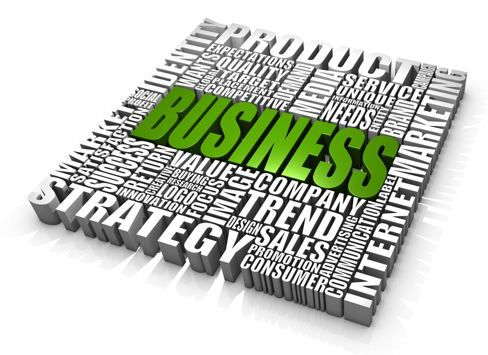 Group of business related words. Part of a series of business concepts.